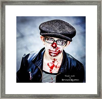 Framed Print featuring the photograph Bloody Youth by Stwayne Keubrick