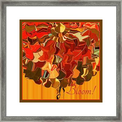 Bloom Framed Print by Bonnie Bruno