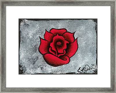 Framed Print featuring the painting Blooming Beauty by Oddball Art Co by Lizzy Love