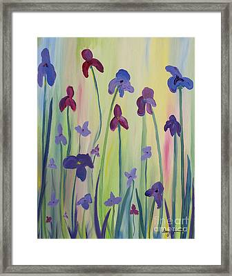 Blooming Irises Framed Print