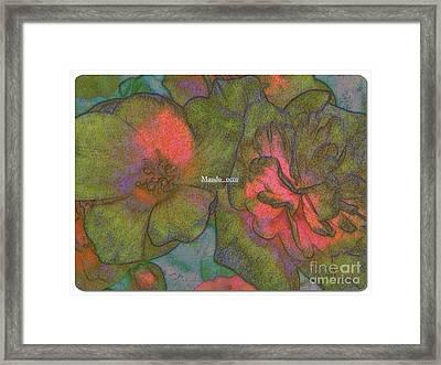 Blooms Line Framed Print