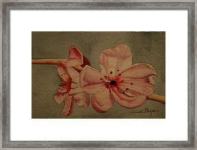 Framed Print featuring the painting Blossom II by Teresa Beyer