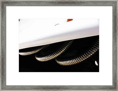 Framed Print featuring the photograph Blow Out Pipes by Carolina Liechtenstein