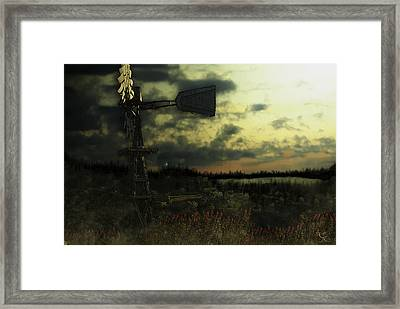 Blowing In The Wind Framed Print by Kelly Rader