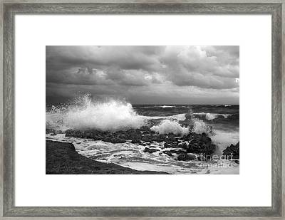 Blowing Rocks Framed Print by Richard Nickson