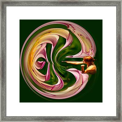 Blowing Up The World. Framed Print by Jean Noren