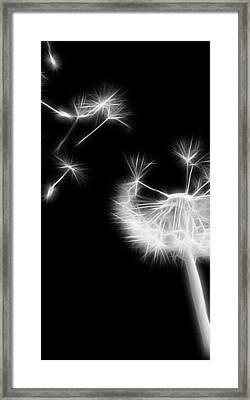 Blown Away - Sparklized Framed Print
