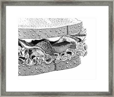 Framed Print featuring the drawing Blt Sandwich by Ana Tirolese