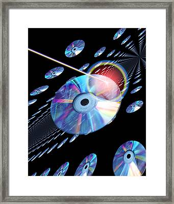 Blu-ray Discs Framed Print by Victor Habbick Visions