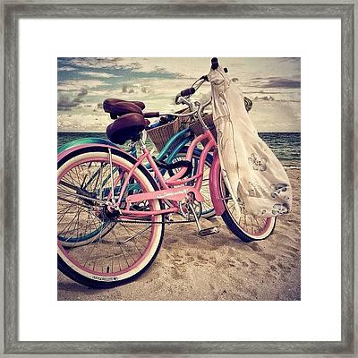 Blue & Pink - Miami Beach Framed Print