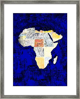 Blue Africa Framed Print by Anne Mott