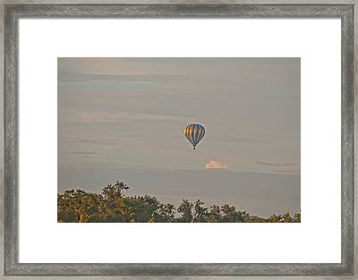 Blue And Gold Balloon Framed Print by John Black