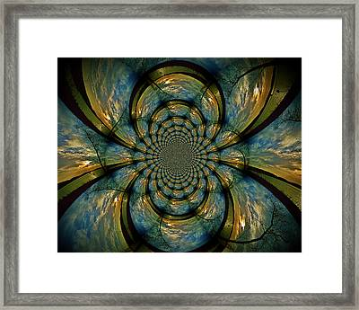 Blue And Gold  Framed Print by Becky Foster