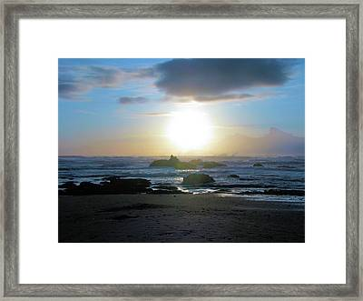 Blue And Gold Framed Print