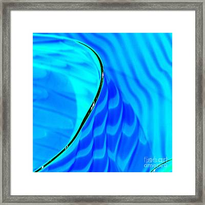Blue And Green Framed Print by Artist and Photographer Laura Wrede