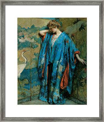Blue And Yellow Framed Print by Robert Reid