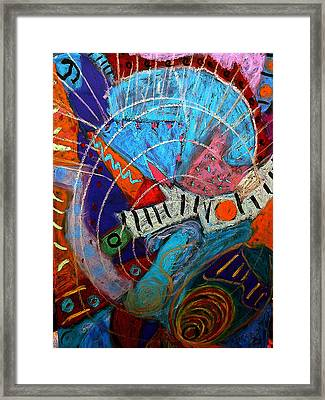 Framed Print featuring the mixed media Blue Angel by Clarity Artists