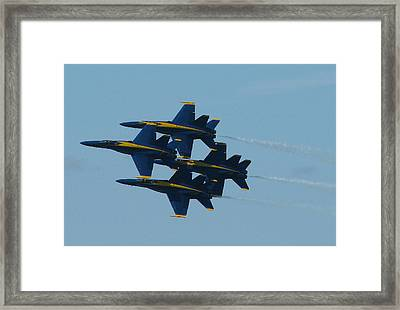 Blue Angels Diamond From Right Framed Print by Samuel Sheats