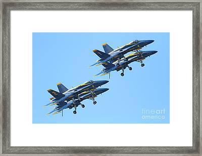 Blue Angels F-18 Super Hornet . 7d7978 Framed Print