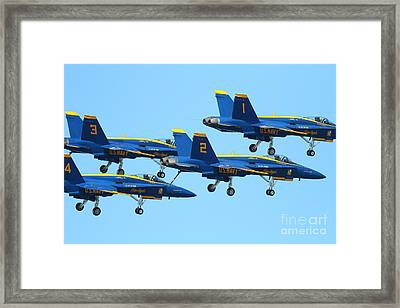 Blue Angels F-18 Super Hornet . 7d7990 Framed Print