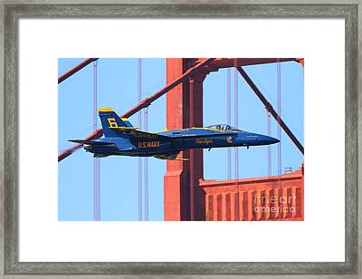 Blue Angels F-18 Super Hornet . 7d8055 Framed Print by Wingsdomain Art and Photography