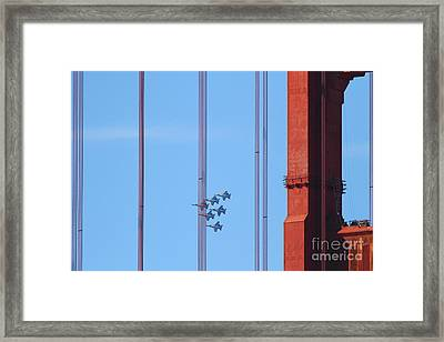 Blue Angels F-18 Super Hornet . 7d8085 Framed Print by Wingsdomain Art and Photography