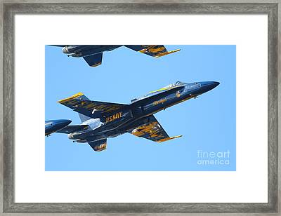 Blue Angels F-18 Super Hornet . 7d8132 Framed Print