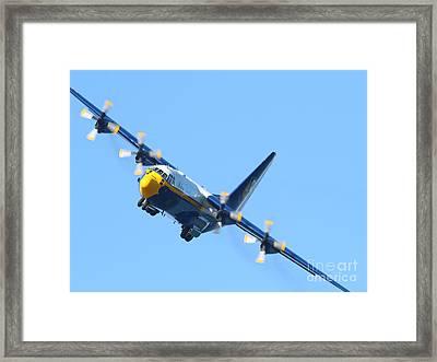 Blue Angels Fat Albert C130t Hercules . 7d7912 Framed Print