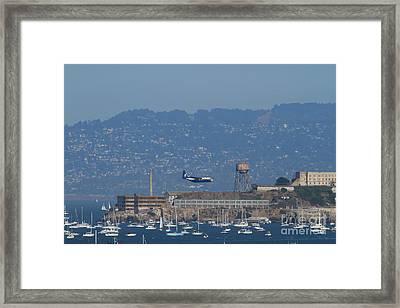 Blue Angels Fat Albert C130t Hercules Across San Francisco Alcatraz . 7d7937 Framed Print by Wingsdomain Art and Photography