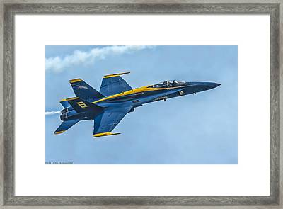 Framed Print featuring the photograph Blue Angels by Linda Karlin