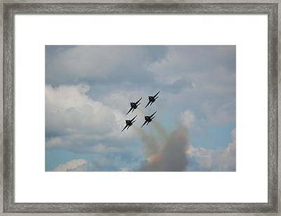 Blue Angels Roaring By Framed Print