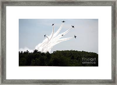 Blue Angels Star Burst Framed Print by Kevin Fortier