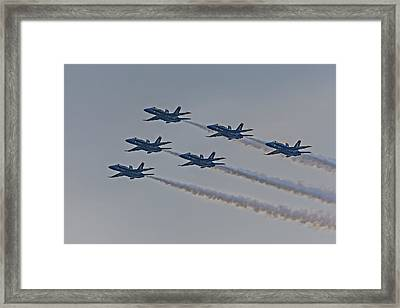 Blue Angels Framed Print by Susan Candelario