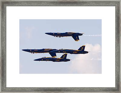 Blue Angels Framed Print by Zannie B