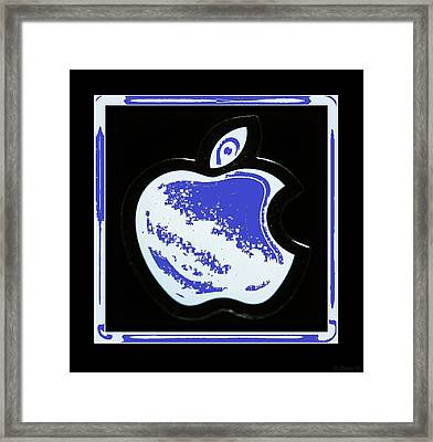 Blue Apple Framed Print