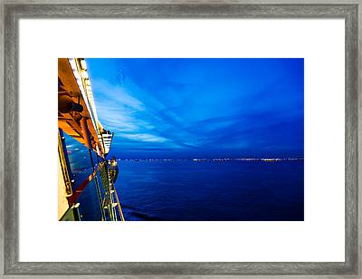 Blue At Sea Framed Print
