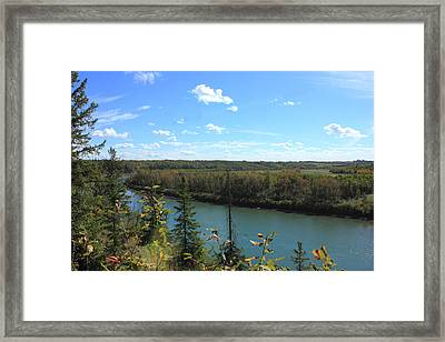 Blue Autumn Waters Framed Print