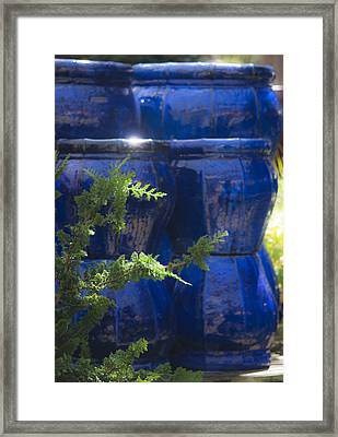 Blue Background Framed Print by Teresa Mucha