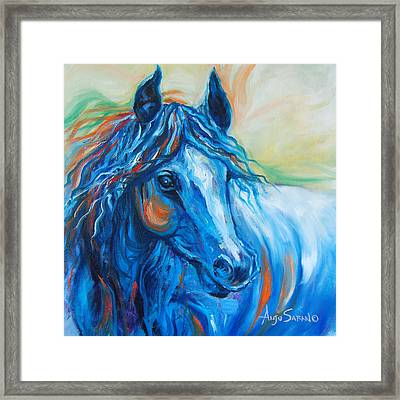 Blue Beauty Framed Print by Anju Saran
