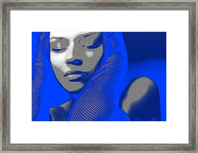 Blue Beauty Framed Print by Naxart Studio