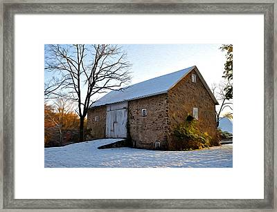 Blue Bell Barn Framed Print by Bill Cannon