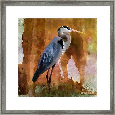 Blue Framed Print by Betty LaRue