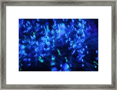 Blue Big Bang Framed Print