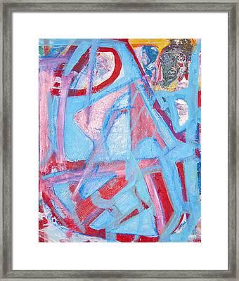 Blue Bin  Framed Print by Brooks Blackwood
