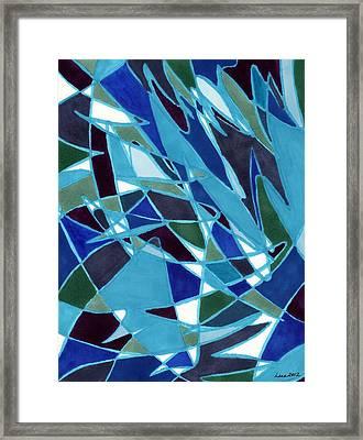 Blue Blaze Framed Print by Lesa Weller