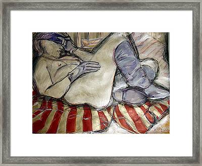 Blue Boots Framed Print by Terry Brown