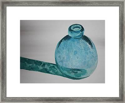 Blue Bottle Framed Print by Rachel Hames