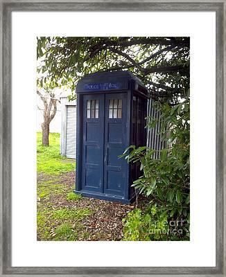 Blue Box Framed Print by Julie Butterworth