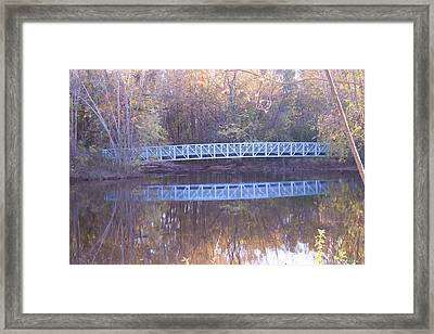 Blue Bridge Framed Print