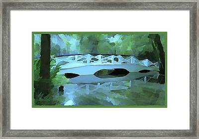 Blue Bridge In Magnolia Framed Print by Mindy Newman